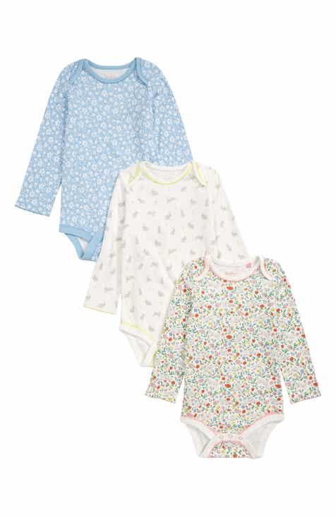 fa2d86202d5c Mini Boden Bunnies 3-Pack Organic Cotton Bodysuits (Toddler Girls)