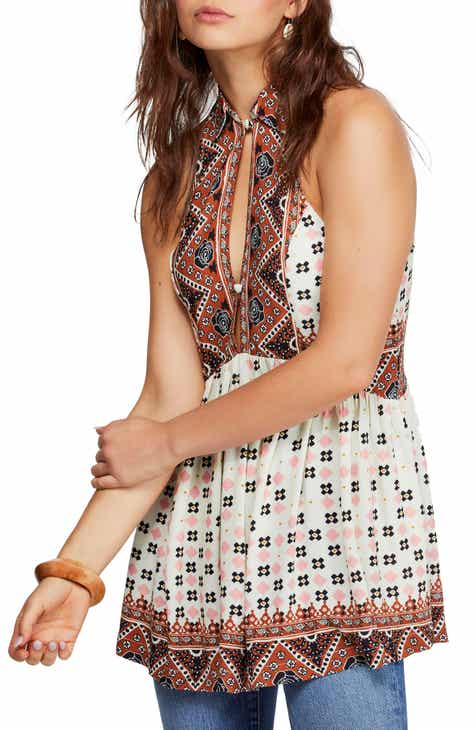 Free People Mixed Print Tunic