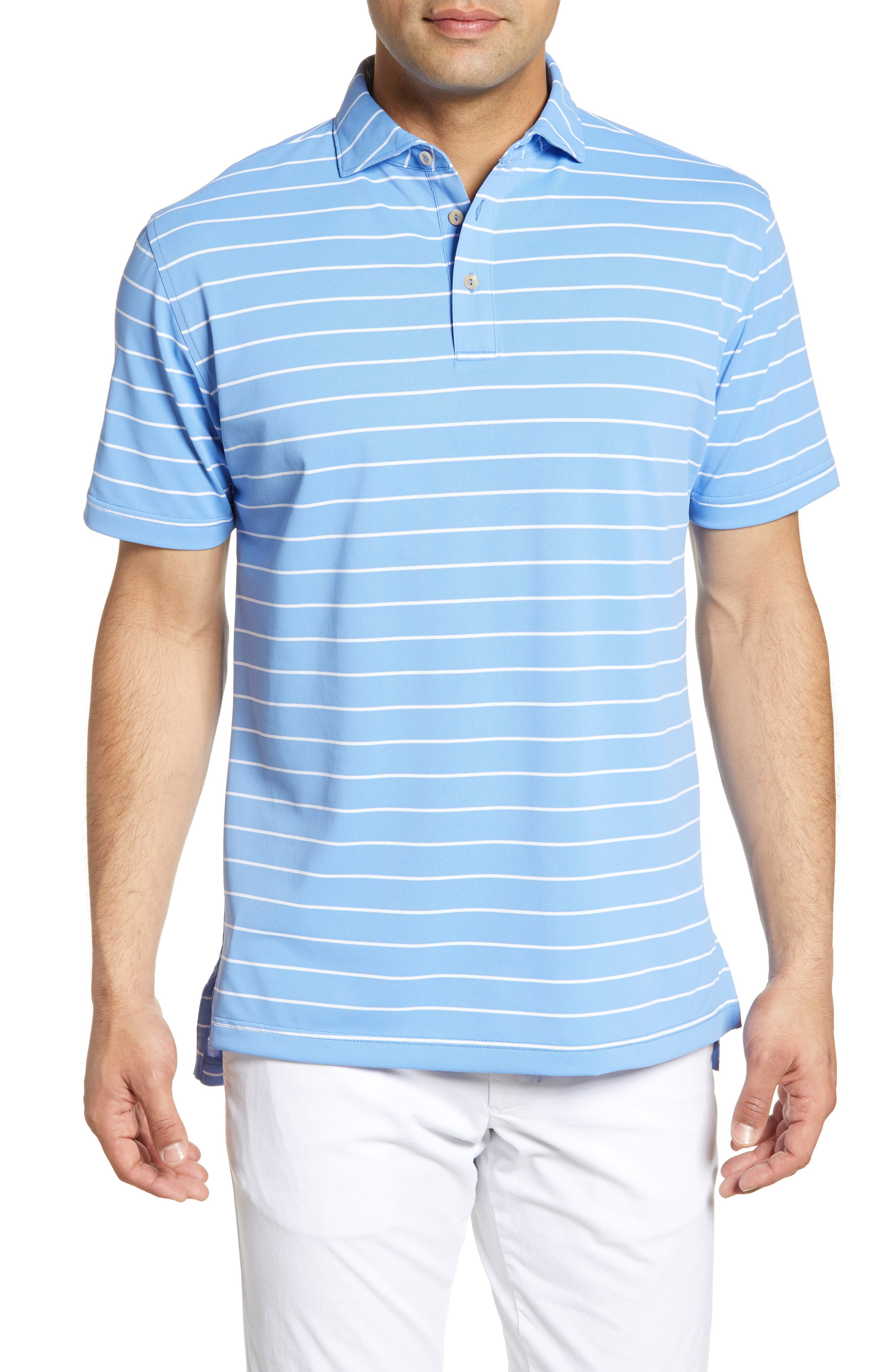 Men's Clothing Clothing, Shoes & Accessories Peter Millar Men's Green Blue Brown Striped Polo Shirt Size Xl Palo Alto Hills