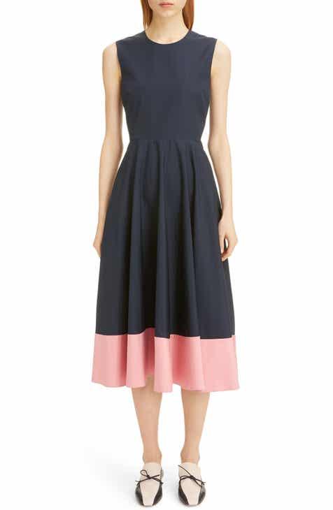 Roksanda Contrast Hem Poplin Midi Dress