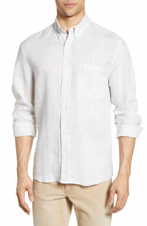 Billy Reid Tuscumbia Regular Fit Button-Down Linen Sport Shirt