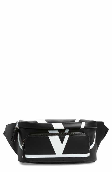 7f3b11bddd Valentino V-Logo Leather Belt Bag