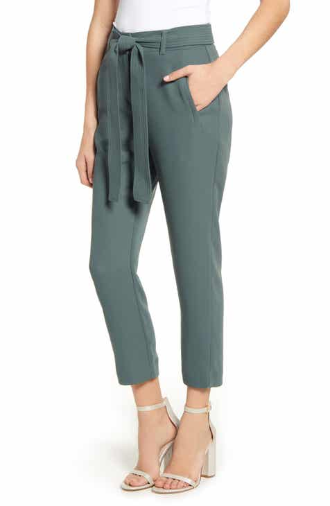 J.O.A. Tie Front Wide Leg Pants by J.O.A.
