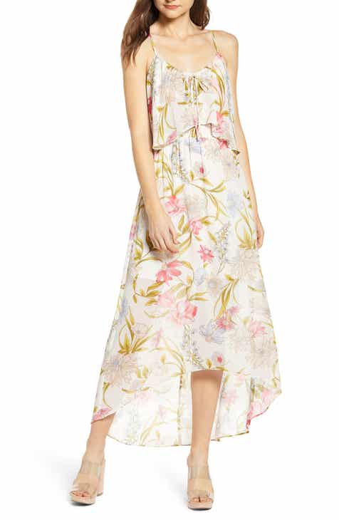 731bbd2ad1 June & Hudson Floral High/Low Popover Dress