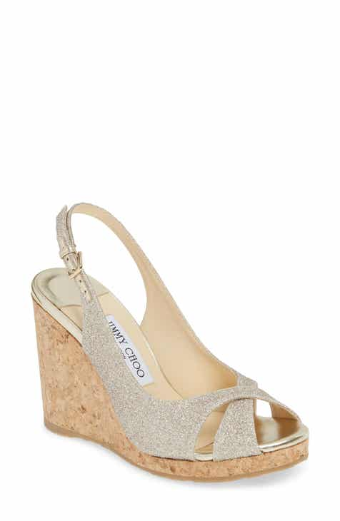 ee5934972ae439 Jimmy Choo Amely Slingback Wedge Sandal (Women)