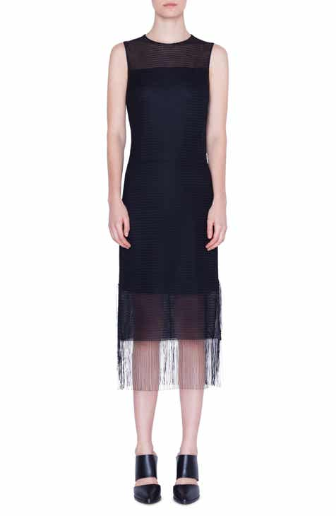 Akris punto Fringe Hem Sleeveless Dress