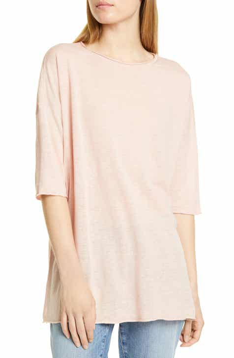 8223f4cd075 Eileen Fisher Linen   Cotton Tunic Sweater