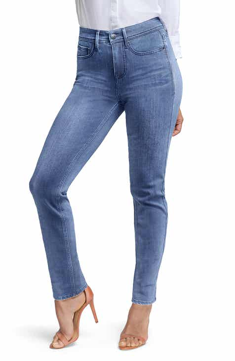 Curves 360 by NYDJ Slim Ankle Straight Leg Jeans (Regular, Petite & Plus Size) (Aquino) by CURVES 360 BY NYDJ