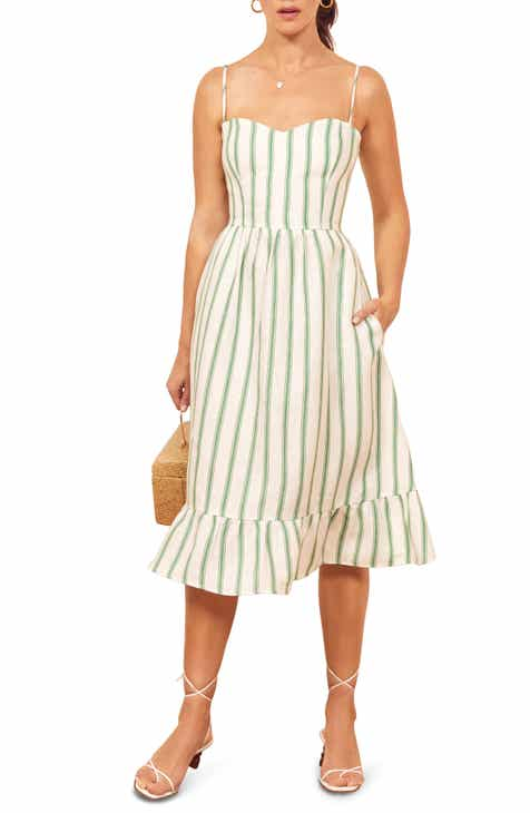 c1f6596acd beachlunchlounge Jaylene Stripe Sleeveless Linen   Cotton Shift Dress.   69.00. Product Image