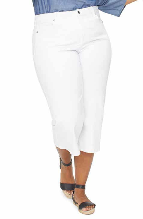 NYDJ Wide Leg Capri Jeans (Plus Size) by NYDJ