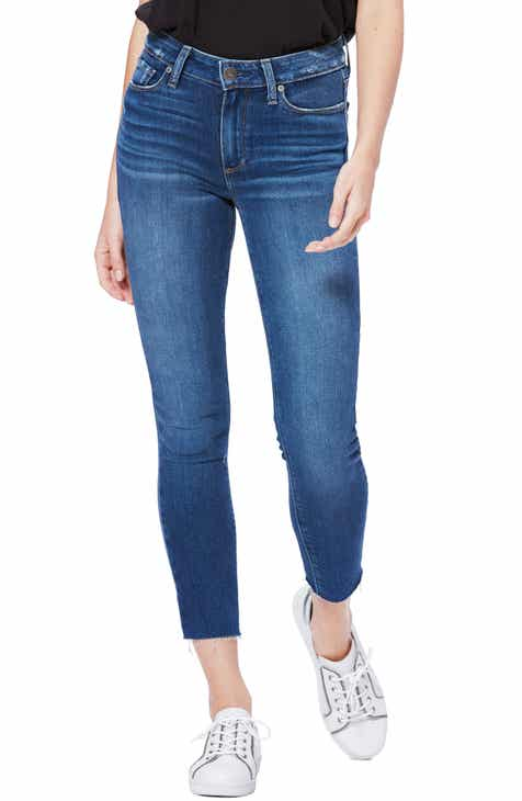 Good American Good Legs Ripped High Waist Skinny Jeans (Blue 208) (Regular & Plus Size) by GOOD AMERICAN