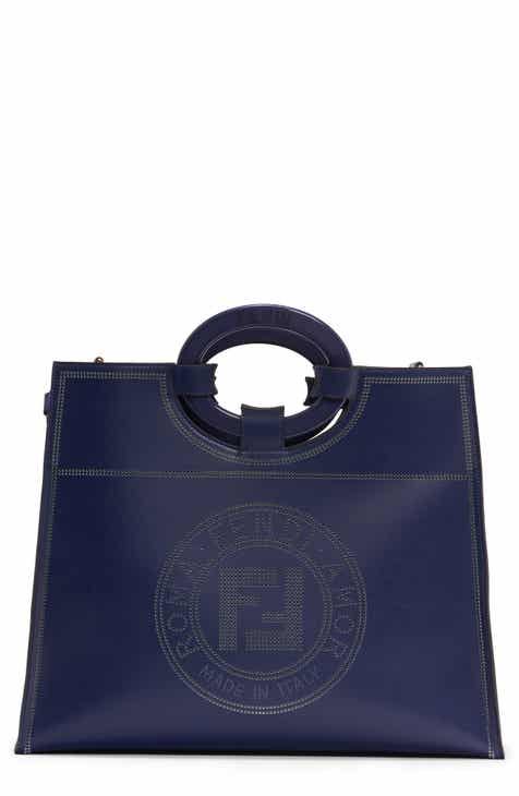 0fd301728f17 Fendi Medium Runaway Perforated Leather Shopper