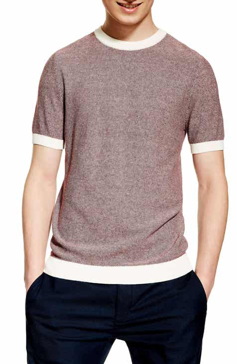 4f7075b318a798 Topman Short Sleeve Sweater T-Shirt