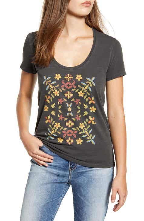 09aa38820ef Lucky Brand Mosaic Floral Tee
