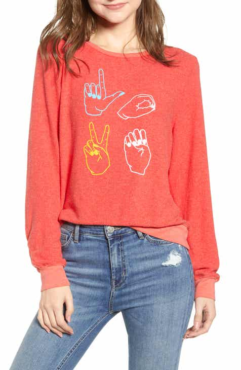 Wildfox Baggy Beach Jumper - Love Signs Pullover