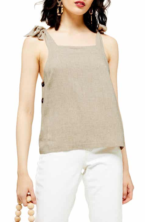 Topshop Polly Tie Shoulder Camisole