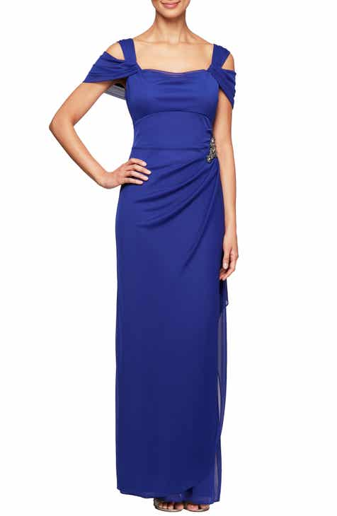 7d677dd0e0cd Alex Evenings Embellished Cold Shoulder Gown