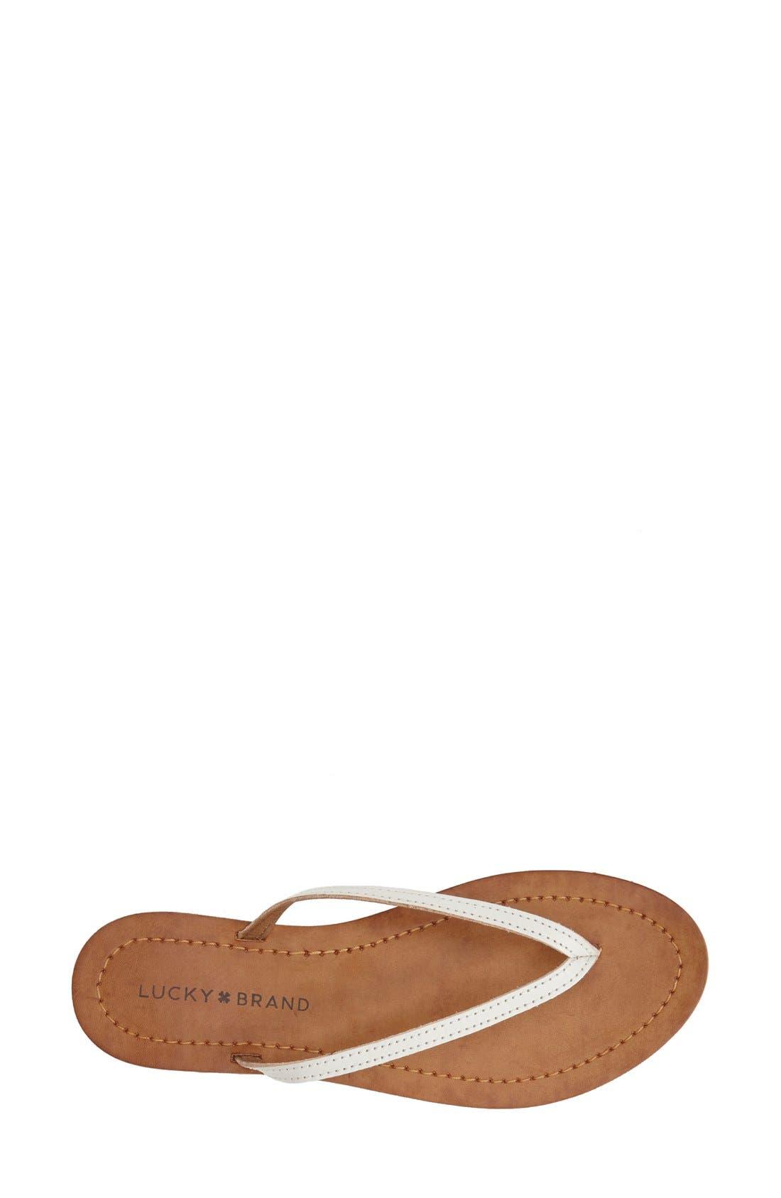 Alternate Image 3  - Lucky Brand 'Amberr' Leather Thong Sandal (Women)