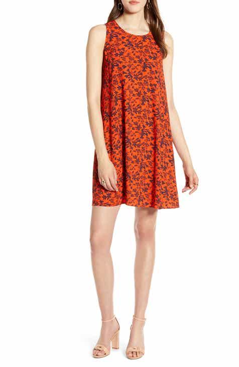 a013b26d28e Halogen® A-Line Dress (Regular   Petite)