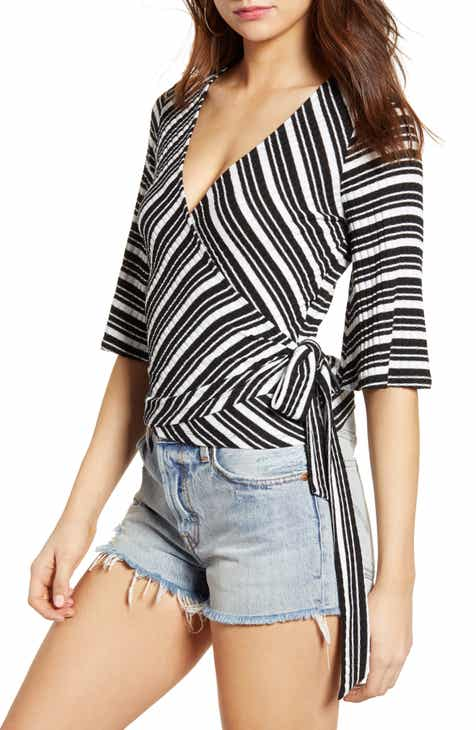 Socialite Ribbed Wrap Top