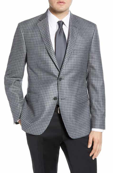 b5766c641aa John W. Nordstrom® Traditional Fit Check Cotton Blend Sport Coat