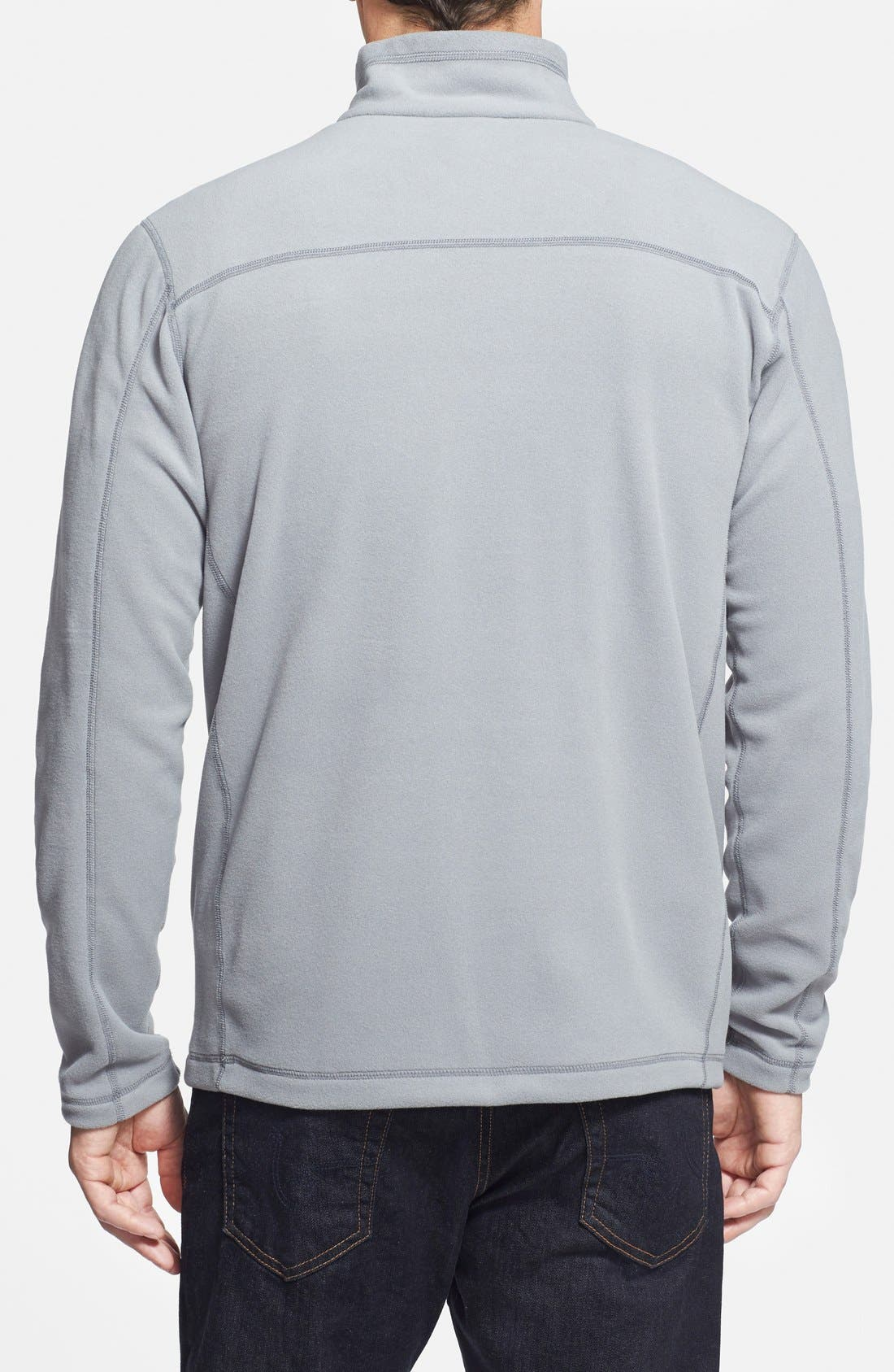 'Micro D' Quarter Zip Front Pullover,                             Alternate thumbnail 2, color,                             Feather Grey