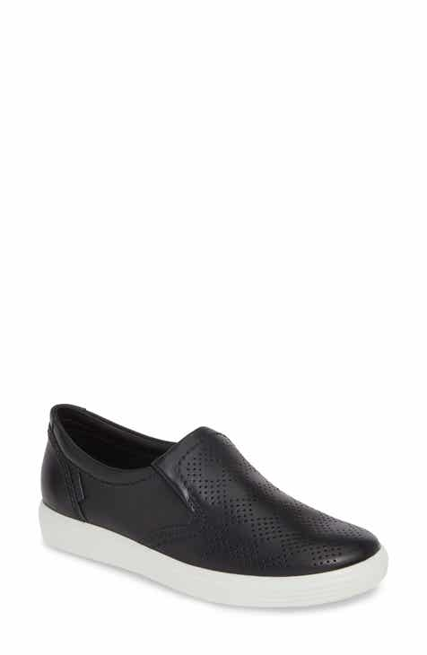 b97262b03 ECCO Soft 7 Perforated Slip-On Sneaker (Women).  149.95. Product Image.  BLACK  BLACK LEATHER