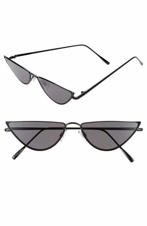 4fff8767d05e2 56mm Slim Cat Eye Sunglasses