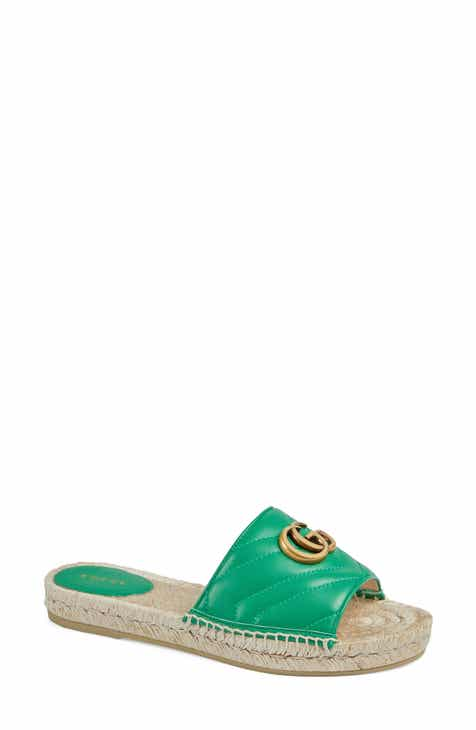 cd177deaf901a Gucci Pilar Espadrille Slide Sandal (Women)