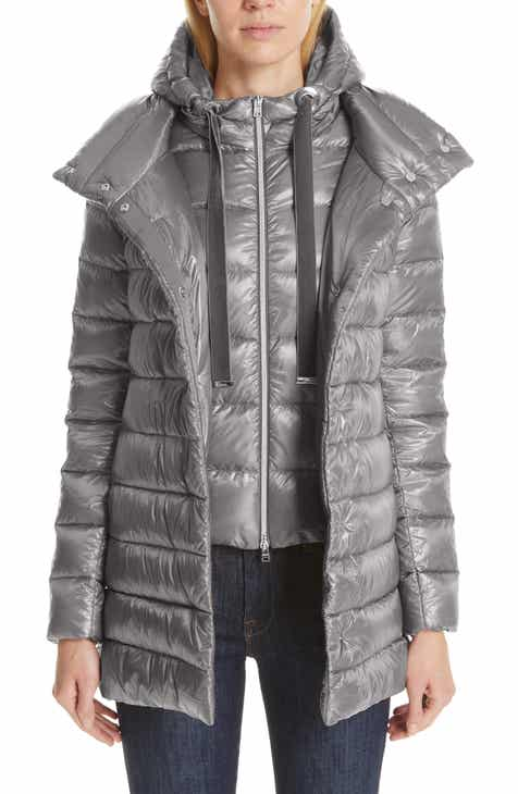 70d4c39a Herno High/Low Quilted Down Puffer Coat with Removable Hooded Inset