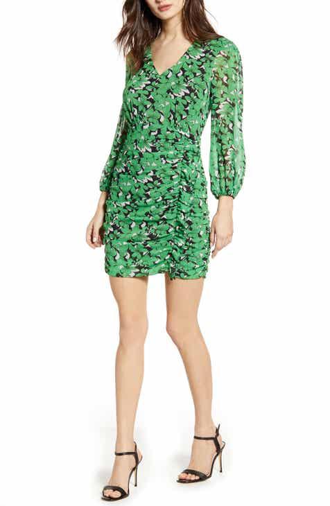 5a4d15d7d214c ASTR the Label Floral Long Sleeve Minidress