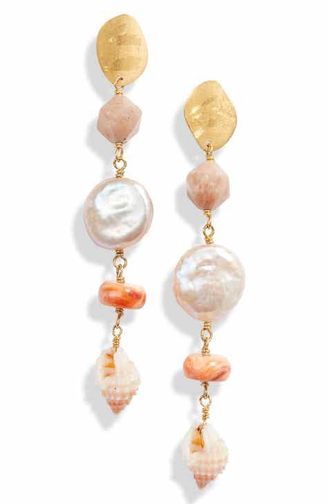 7348d761c Chan Luu Pearl & Shell Drop Earrings