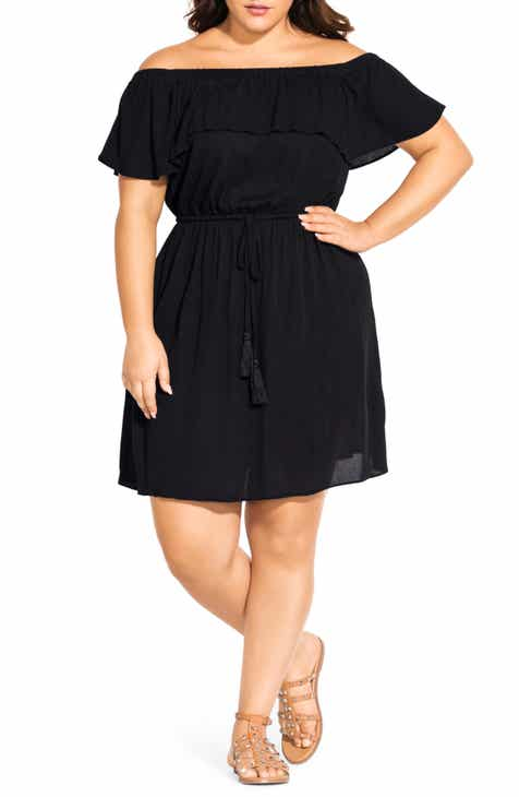 bb18d1138ce City Chic Sunkissed Off the Shoulder Dress (Plus Size)