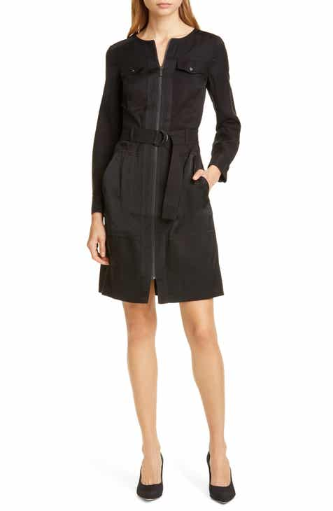 Karen Millen Long Sleeve Utility Dress