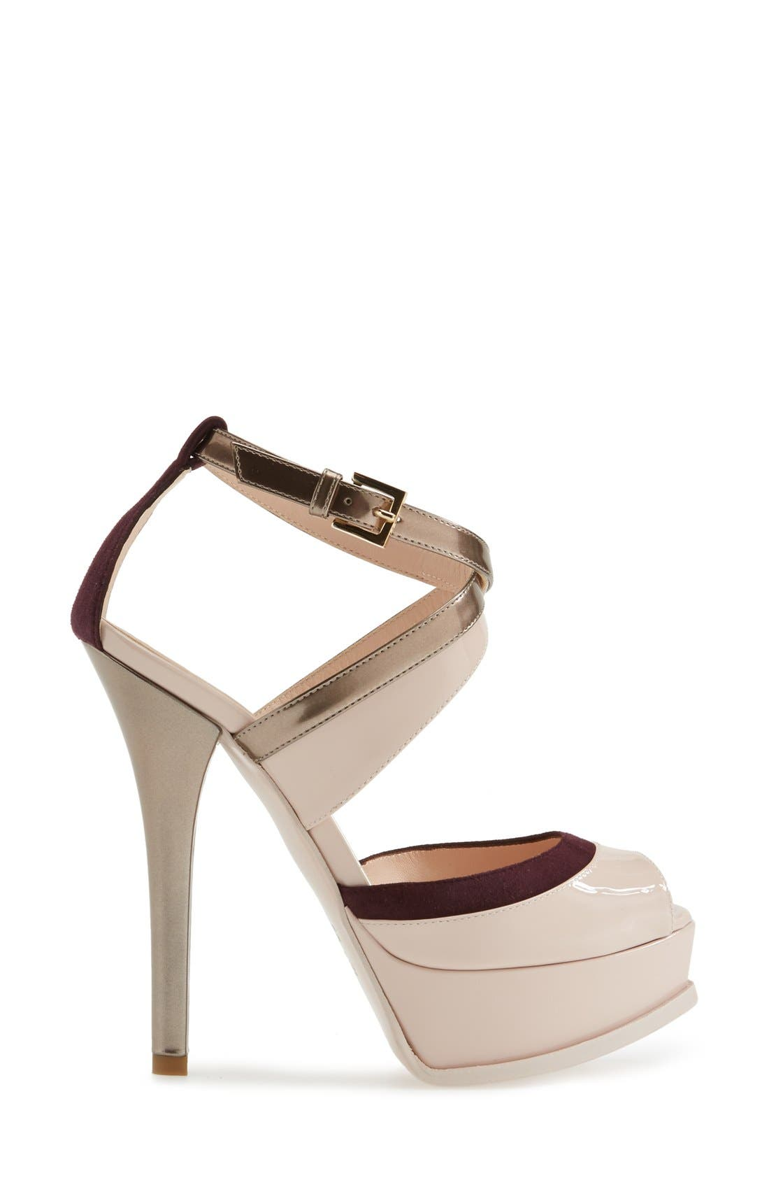 Alternate Image 4  - Fendi 'Fendista' Platform Sandal (Women)