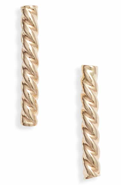 0c769f240 Bony Levy Twisted Bar Stud Earrings (Nordstrom Exclusive). $125.00. Product  Image. YELLOW GOLD