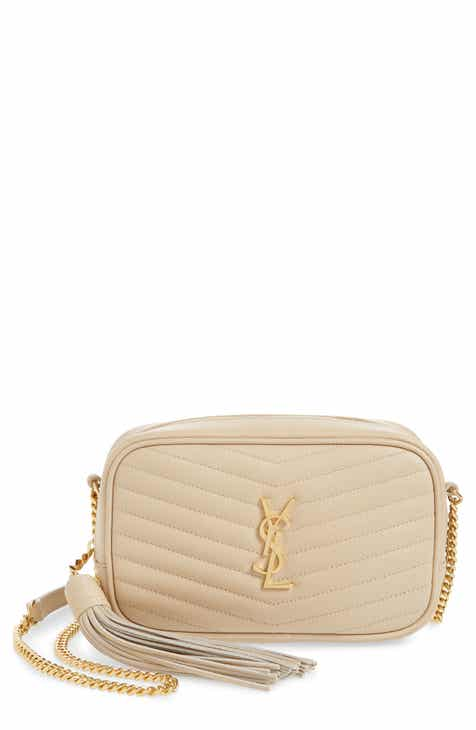 1cbeef614fee Saint Laurent Mini Lou Quilted Leather Crossbody Bag