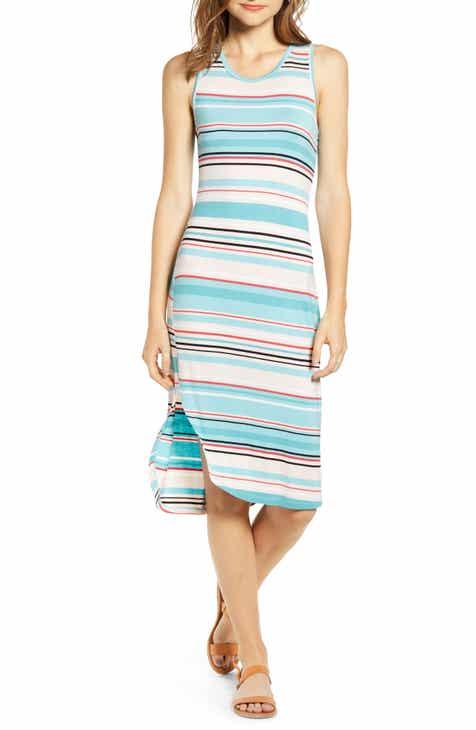 Love, Fire Stripe Midi Dress