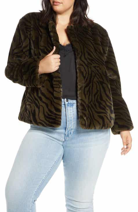 3146bed8481 Sanctuary Safari Faux Fur Jacket (Plus Size)