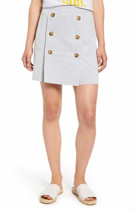 d31cb3921 J.Crew Stretch Seersucker Button Front Miniskirt