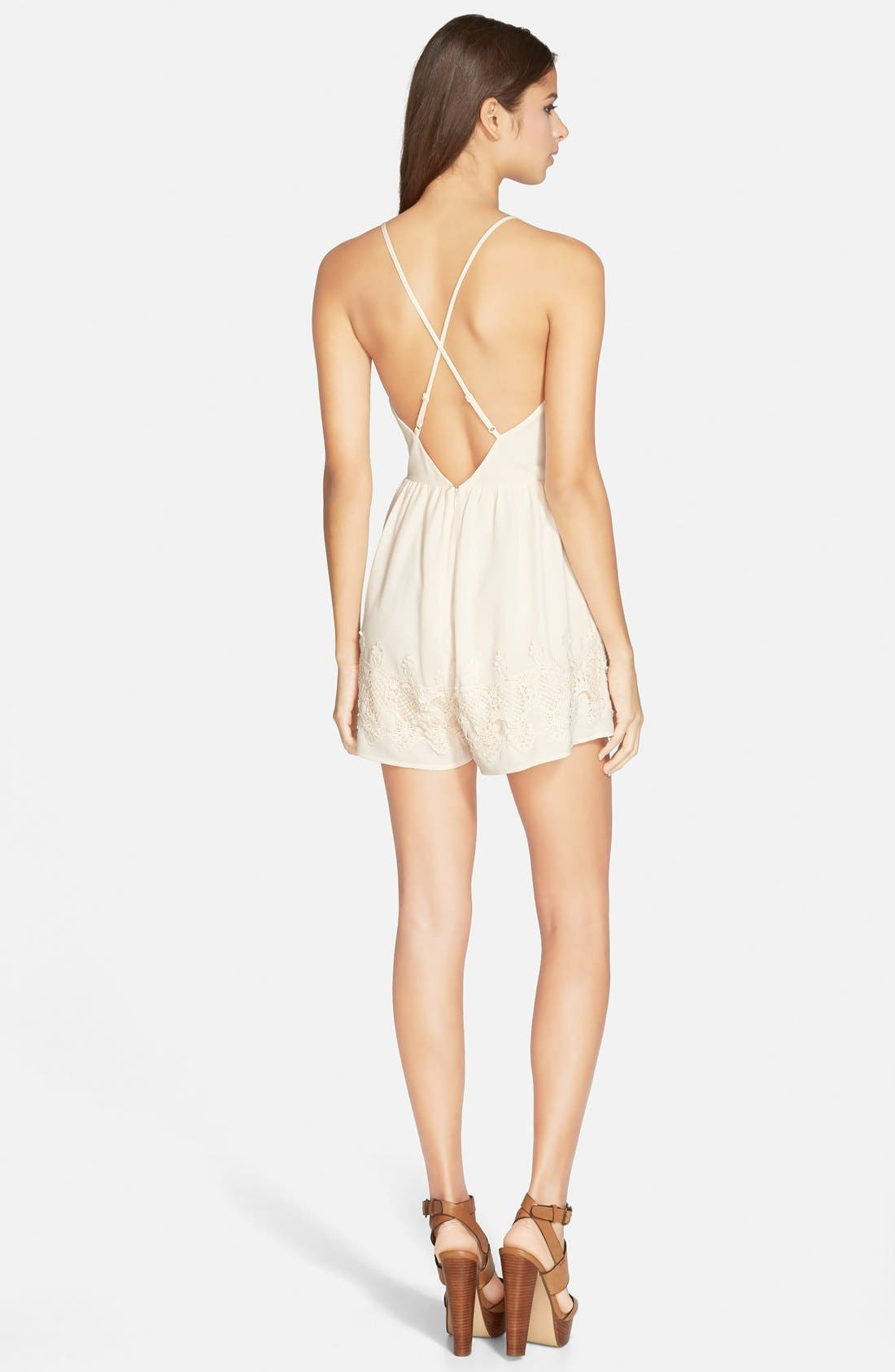 Alternate Image 2  - ASTR Appliqué Romper