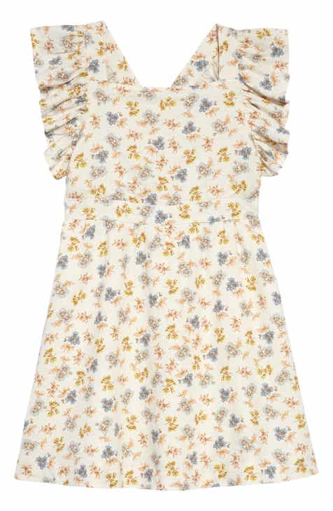 9de074a2ff09 Something Navy Floral Print Pinafore Dress (Toddler Girls, Little Girls &  Big Girls) (Nordstrom Exclusive)