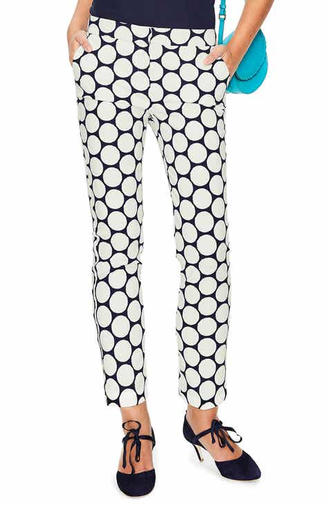 Boden Richmond Polka Dot Stripe Contrast Ankle Pants by BODEN