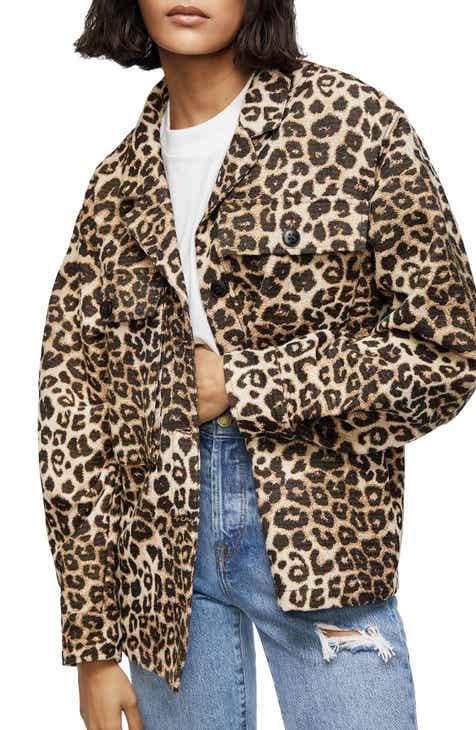 e8a8e8f0e703 ANINE BING Flynn Leopard Jacquard Jacket