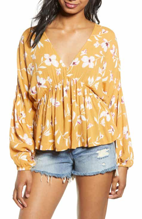 ec7ec3792decbb Billabong Windy Street Floral Print Top