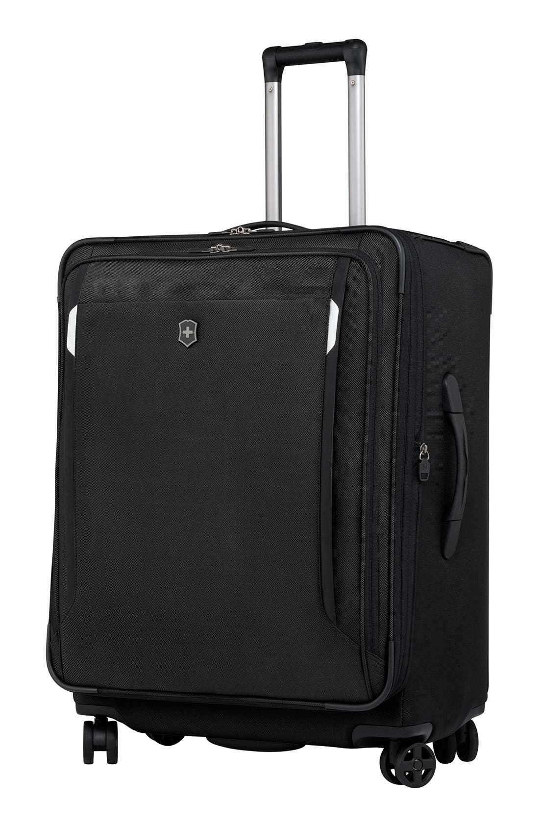 WT 5.0 Dual Caster Wheeled 27-Inch Packing Case,                             Main thumbnail 1, color,                             Black