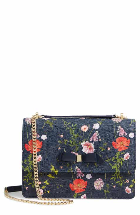 43597fe5f7b Ted Baker London Traccy Hedgerow Floral Leather Crossbody Bag