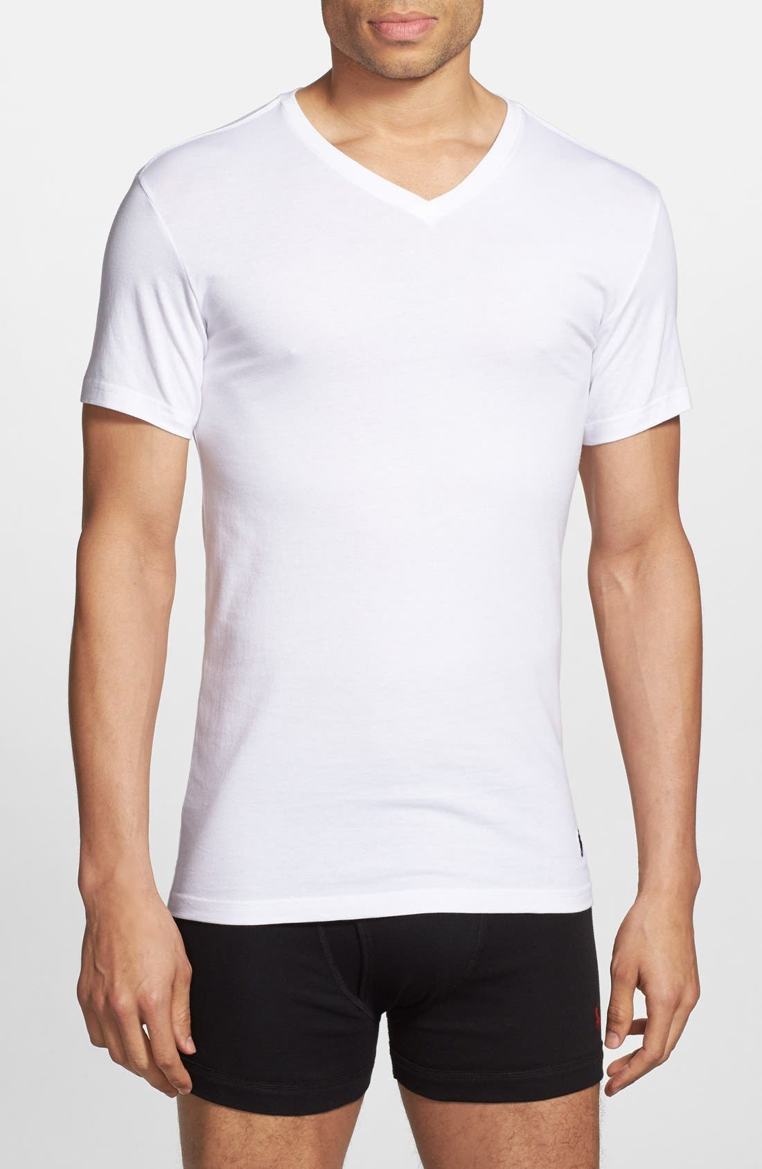 3-Pack Trim Fit T-Shirt,                         Main,                         color, White/ White