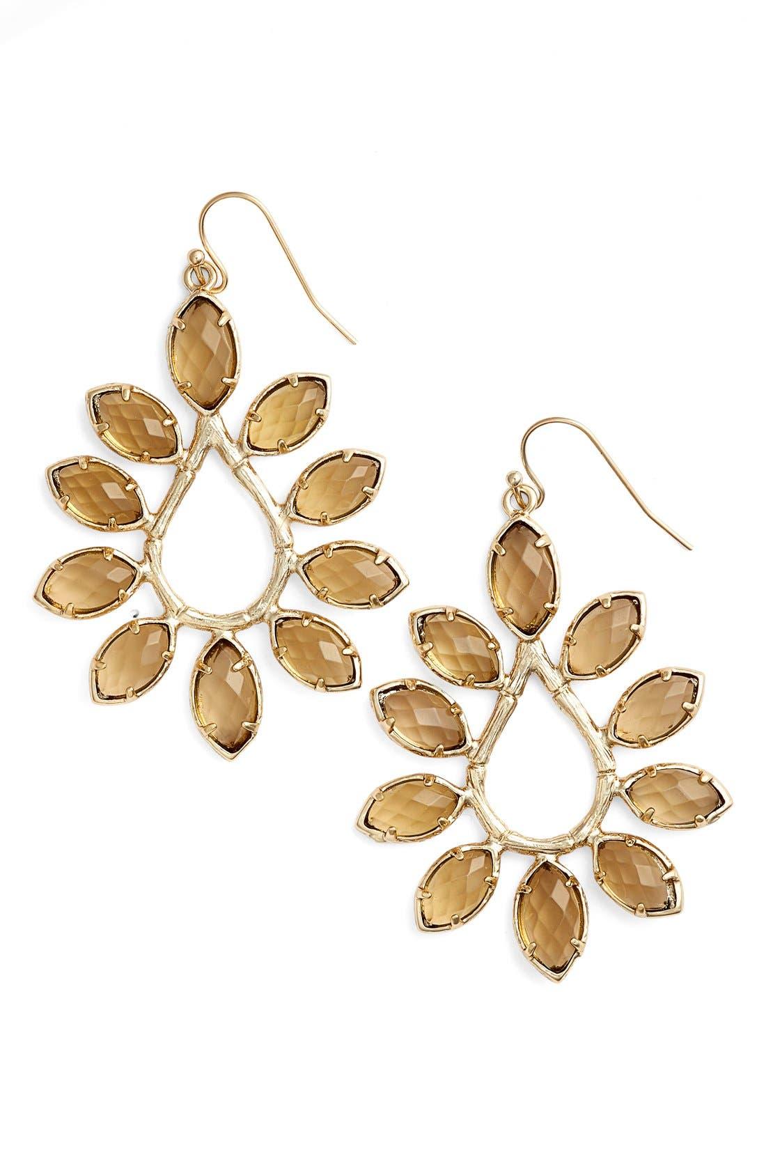 Main Image - Kendra Scott 'Nyla' Large Teardrop Floral Earrings