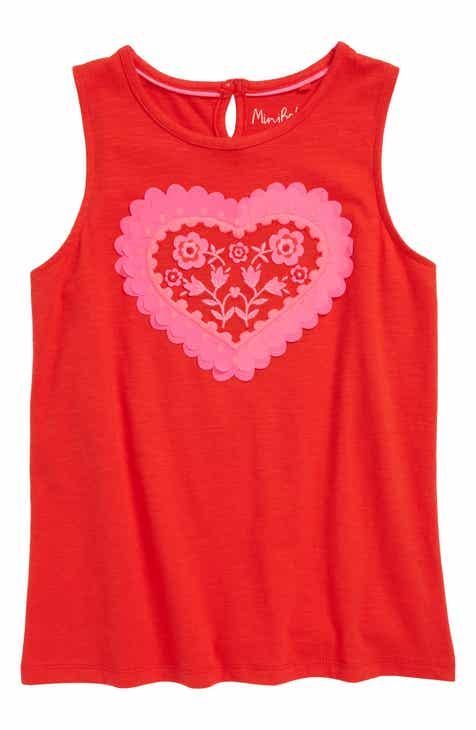 432f5cb7 Mini Boden Heart Appliqué Tank (Toddler Girls, Little Girls & Big Girls)